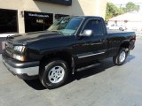 2004 Black Chevrolet Silverado 1500 Z71 Regular Cab 4x4 #107340794