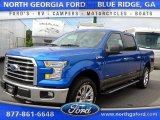 2015 Blue Flame Metallic Ford F150 XLT SuperCrew 4x4 #107340261