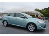 2012 Frosted Glass Metallic Ford Focus SEL Sedan #107340534