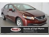 2015 Crimson Pearl Honda Civic LX Sedan #107340350