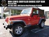 2006 Impact Orange Jeep Wrangler X 4x4 #107380064