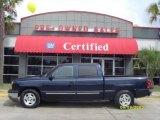 2005 Dark Blue Metallic Chevrolet Silverado 1500 LS Crew Cab #10725272