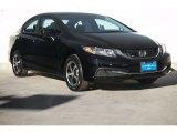 2015 Crystal Black Pearl Honda Civic SE Sedan #107428741