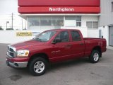 2006 Inferno Red Crystal Pearl Dodge Ram 1500 SLT Quad Cab 4x4 #10724856