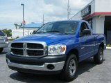 2008 Electric Blue Pearl Dodge Ram 1500 SXT Regular Cab #10728720