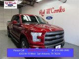 2015 Ruby Red Metallic Ford F150 Lariat SuperCrew 4x4 #107659802