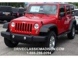 2016 Firecracker Red Jeep Wrangler Unlimited Sport 4x4 #107660042