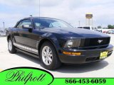 2007 Black Ford Mustang V6 Deluxe Convertible #10733801