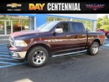 2012 Deep Molten Red Pearl Dodge Ram 1500 Laramie Crew Cab 4x4 #107685456