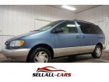 1998 Denim Blue Mica Pearl Metallic Toyota Sienna LE #107685317