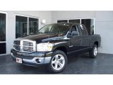 2008 Brilliant Black Crystal Pearl Dodge Ram 1500 Big Horn Edition Quad Cab #10722548
