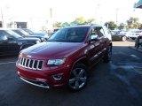 2014 Deep Cherry Red Crystal Pearl Jeep Grand Cherokee Overland 4x4 #107685619