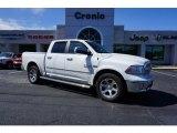 2014 Bright White Ram 1500 Laramie Crew Cab 4x4 #107685599