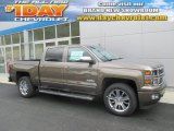 2015 Brownstone Metallic Chevrolet Silverado 1500 High Country Crew Cab 4x4 #107724414