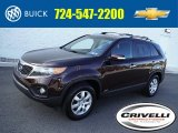 2011 Dark Cherry Kia Sorento LX AWD #107724745