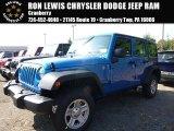 2016 Hydro Blue Pearl Jeep Wrangler Unlimited Sport 4x4 #107761781