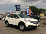 2013 White Diamond Pearl Honda CR-V LX AWD #107761699