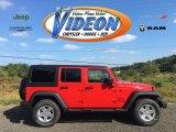 2016 Firecracker Red Jeep Wrangler Unlimited Sport 4x4 #107762133