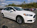 2015 White Platinum Metallic Ford Fusion Titanium AWD #107761823