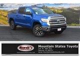 2016 Blazing Blue Pearl Toyota Tundra SR5 CrewMax 4x4 #107797201