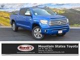 2016 Blazing Blue Pearl Toyota Tundra Platinum CrewMax 4x4 #107797200