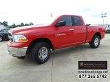 2012 Flame Red Dodge Ram 1500 SLT Quad Cab 4x4 #107797498