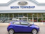 2015 Blue Candy Metallic Ford Fiesta SE Hatchback #107797550