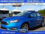 2015 Blue Candy Metallic Ford Focus SE Sedan #107797156