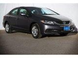 2015 Modern Steel Metallic Honda Civic LX Sedan #107842816