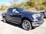 2015 Blue Jeans Metallic Ford F150 XLT SuperCrew 4x4 #107861796