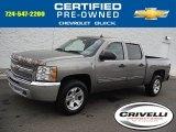 2013 Graystone Metallic Chevrolet Silverado 1500 LS Crew Cab 4x4 #107881548