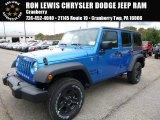 2016 Hydro Blue Pearl Jeep Wrangler Unlimited Sport 4x4 #107920419