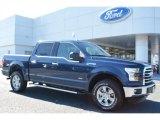 2015 Blue Jeans Metallic Ford F150 XLT SuperCrew 4x4 #107920475