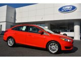 2015 Race Red Ford Focus SE Sedan #107920474