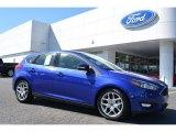 2015 Performance Blue Ford Focus SE Hatchback #107920473