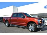 2015 Bronze Fire Metallic Ford F150 XLT SuperCrew 4x4 #107920469