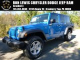 2016 Hydro Blue Pearl Jeep Wrangler Unlimited Sport 4x4 #107951587