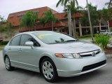 2007 Alabaster Silver Metallic Honda Civic LX Sedan #1074339