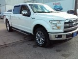 2015 White Platinum Tricoat Ford F150 Lariat SuperCrew 4x4 #107951382