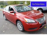 2014 Red Brick Nissan Sentra S #107951120