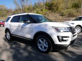 White Platinum Metallic Tri-Coat Ford Explorer in 2016