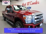 2015 Ruby Red Ford F250 Super Duty Platinum Crew Cab 4x4 #107951455