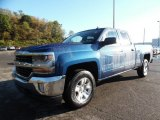 2016 Deep Ocean Blue Metallic Chevrolet Silverado 1500 LT Double Cab 4x4 #107951822