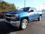 2016 Deep Ocean Blue Metallic Chevrolet Silverado 1500 LT Double Cab 4x4 #107951817