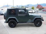 2004 Jeep Wrangler Shale Green Metallic