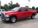 2004 Flame Red Dodge Ram 1500 ST Quad Cab #10791940