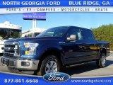 2015 Blue Jeans Metallic Ford F150 XLT SuperCrew 4x4 #108083325