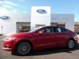 2016 Ruby Red Metallic Ford Fusion Titanium #108083684
