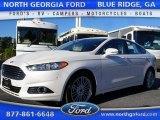 2016 White Platinum Tri-Coat Metallic Ford Fusion SE #108083324