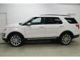 2016 White Platinum Metallic Tri-Coat Ford Explorer Limited 4WD #108083247